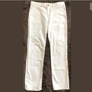 Lands' End Ivory, Straight Leg Jeans